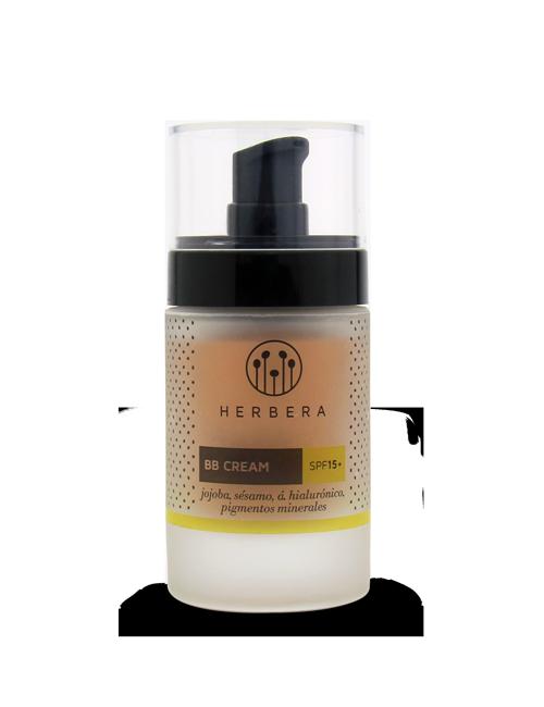 Herbera BB cream ác. hialurónico, jojoba, pigmentos minerales SPF 15+