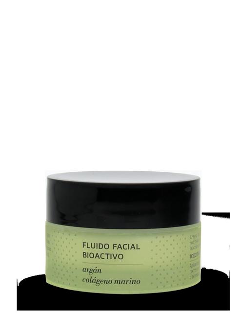 Herbera Fluido Facial Bioactivo argán y colágeno marino tarro