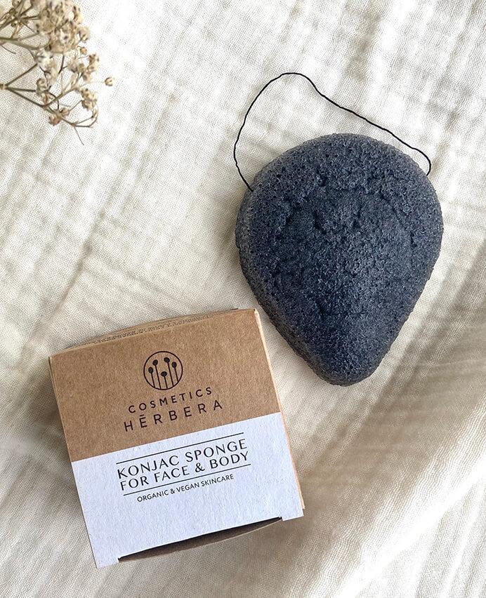 Esponja Konjak Carbón